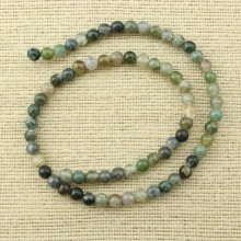 2 string of about 76 cm in length,  Color mixing agate beads, 6 mm  round agate beads, gemstone, beads, ETS - T077