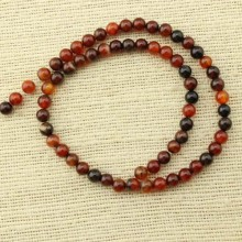 2 string of about 76 cm in length,  6 mm color mixing agate beads, beads in bulk, agate necklace, agate bracelet, beads, ETS - T079