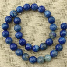 31 pcs 12 mm blue faceted round agate beads, loose beads, gemstone, beads, ETS - T083