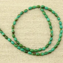 2 string of about 120 pcs,  4.5 mm * 6-6.5 mm rice turquoise beads, turquoise, loose beads, beads in bulk, ETS - T087