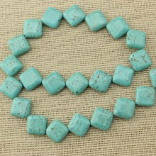 1 string of about 22 pcs,14mm*14mm turquoise beads,new turquoise beads,Cube beads for bracelet,necklace beads,natural beads,wholesale beads,jewelry beads,ETS-T098