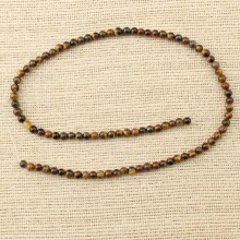 2 string of about 178 pcs,  Round Tiger stone beads strand,Natural Tiger stone Beads for Jewelry Making,Tiger stone Gemstone Loose Beads for Necklace, Tiger stone beads supplies,nature stone for necklace,ETS-T099