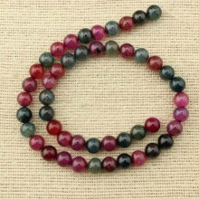 Aobei Pearl - 1 string of about 46 pcs, watermelon tourmaline Beads supplier,natural beads,tourmaline  beads,wholesale nature stone beads,long beads for jewelry making,ETS-T100
