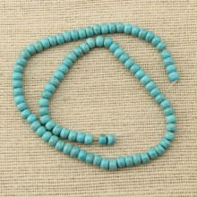 2 string of about 176 pcs, 6mm*4mm turquoise beads,new turquoise beads,beads for bracelet,necklace beads,natural beads,wholesale beads,jewelry beads,ETS-T106
