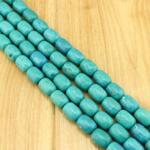 1 string of about 20 pcs  ETS -TD066   A cylindrical size 15mm * 20mm diameter hole 1.5mm natural turquoise beads