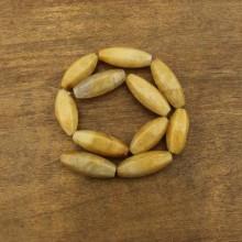 11 pcs for one strand, 13 mm * 30 mm Hexagonal rice topaz beads, rice beads, beads in bulk, ETS - TZ016