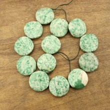 13 pcs for one strand, Jewelry nature stone Qinghai Tsui beads,section round stone beads for necklace and bracelet,DIY jewelry making beads,wholesale natural beads,ETS-TZ030