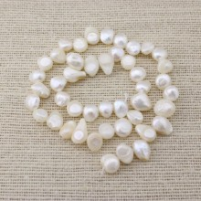 AA 9-10 mm white tail pearl strands, freshwater pearls, pearl strands, wholesale, ETS - Z039