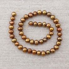 Wholesale potato pearl strand,37cm long pearl strand,natural pearl strand,pearl beads strand,necklace pearl strand,ETS-Z058