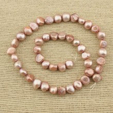 8-9 mm red copper  baroque fresh pearl strands ; pearl strands ;ETS-Z126