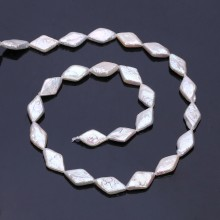 Aobei Pearl, 1 Strand from the Sale, Rhombus Shape Cultured Freswhater Pearls for Jewelry Making, Jewelry Findings, ETS-Z223