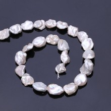 Aobei Pearl, 1 Strand from the Sale, Keshi Shape Cultured Freswhater Pearls for Jewelry Making, Jewelry Findings, ETS-Z226