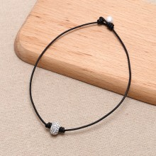 Aobei Pearl - ETS-S646 dosco choker necklaces for women leather handmade design