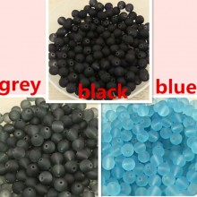 Aobei Pearl - High quality frosted glass beads, beads in bulk, wholesale, 100 pcs, ETS - Z051-1