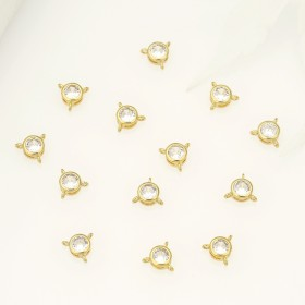 Aobei Pearl ,8PCS from the Sale, 18K Gold Plated  Zircon Charm Pendant Charms For jewelry making, Jewelry Findings, DIY Jewelry Material, fashion accessories ETS-K498