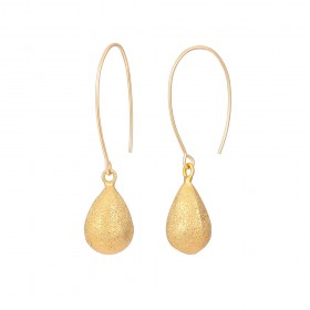 Aobei Pearl ,Drop earrings,18K Gold Plated Frosted Water Globe Stud Earrings,Handmade Geometric Jewelry Fashion Earrings,Jewelry for Women,ladies gifts ETS-E322