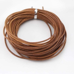 2 mm round primary color leather cord,Jewelry Cord, Naturally Leather Cord, necklace leather cord,round leather cord 10 yards,ETS-P001