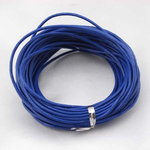 Aobei Pearl - Blue round leather cord,necklace and bracelet leather cord,original leather color,natural leather cord,leather cord,10 yards,ETS-P007