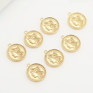 Aobei Pearl ,5PCS From The Sale, 18K Gold Plated Athena Medallion Charm Pendant For Jewelry Making, Jewelry Findings, DIY Jewelry Material, Making Supplies ETS-K490