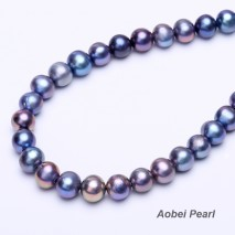 Aobei Pearl, 10 Pieces from the Sale, 12-13 mm Peacock Blue Potato Freshwater Pearl with 2.5 mm Large Hole, DIY Material, Jewelry Findings, ETS-L0140