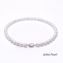 Aobei Pearl, Handmade Shell Pearls Necklace, Artificial Pearl Necklace, Bride Necklace, ETS-S903