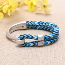 Nickel free, lead free Zine - alloy accessories and cloth rope fashion bracelets  ETS-B308