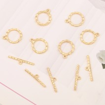 Aobei Pearl ,5 sets (Buckle&stick)From The Sale, 18K Gold Plated Pendant Buckle,Pendant For Jewelry Making, Jewelry Findings, DIY Jewelry Material, Making Supplies ETS-K444