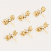Aobei Pearl ,10 PCS From The Sale, 18K Gold Plated Dragonfly earrings Pendant With Zircon ,Dangle Pendant For Jewelry Making, Jewelry Findings, DIY Jewelry Material, ETS-K459