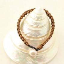12-13 mm Potato pearls bracelet ,women leather bracelet,Genuine Freshwater white Pearls,fashion jewelry for women,ETS-B143