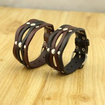 Man and women bracelet alloy leather bracelet ,long leather bracelet,8.5'' long bracelet with genuine leather and alloy,ETS-B357