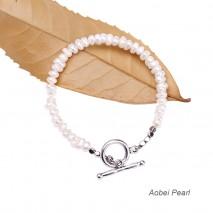 Aobei Pearl Handmade Bracelet made of Freshwater Pearl, Hematite Beads and OT Alloy Clasp, Beaded Bracelet, Pearl Bracelet, ETS-B548