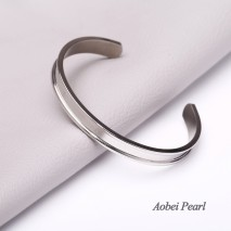 Aobei Pearl Handmade Stainless Steel Bracelet, Adjustable Bracelet, DIY Bracelet, Can Be Made Special Design On it By Yourself, ETS-B551