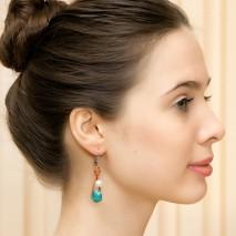 Natural Pearl earrings, Freshwater pearl drop earrings, bridal jewelry, Real pearl earrings - ETS-E094