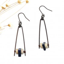 Aobei Pearl Handmade Personal Earring with Alloy Accessory and Natural Stone, ETS-E275