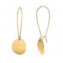 Aobei Pearl ,Drop earrings,18K Gold plated Disc Earrings,Handmade Geometric Jewelry Fashion Earrings,Jewelry for Women,ladies gifts ETS-E362