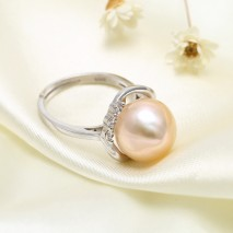 Aobei Pearl, Personal Ring, Pearl Earring, String Silver Ring, Open Ring, Fashion Ring, Diamond Ring, Wedding Ring, Love Gift Ring, ETS-J040