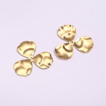 Aobei Pearl, 16 PCS from the Sale, 18K Gold-Plated Three-Piece Petal-Shaped Making Pendant, Jewelry Findings, DIY Jewelry Material, ETS-K1264