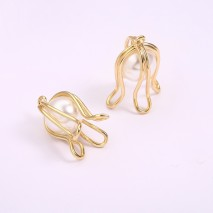 Aobei Pearl, 6 PCS from the Sale, 18k Gold Plated Flower Charms, Pearl Flower Charm,Gold Wire Flower Pendant,, Jewelry Findings, DIY Jewelry Material, ETS-K1265