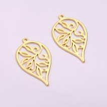 Aobei Pearl, 6 PCS from the Sale, 18K Gold-Plated Tree of Life Pendant Charm for Jewelry Making,Drop Shape,  Jewelry Findings, DIY Jewelry Material, ETS-K1269