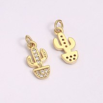 Aobei Pearl, 4 PCS from the Sale, 18K Gold-Plated Lucky Doll Shape to Make Pendant Jewelry Charm for Jewelry Making, Jewelry Findings, DIY Jewelry Material, ETS-K1278