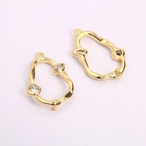 Aobei Pearl, 4 PCS from the Sale, 18K Gold-Plated Gourd Shape to Make Pendant Jewelry Charm for Jewelry Making, Jewelry Findings, DIY Jewelry Material, ETS-K1279