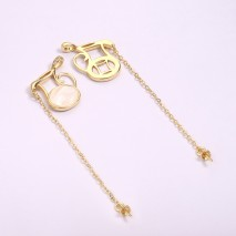 Aobei Pearl, 2 PCS from the Sale, 18K Gold Plated CZ Teapot Pouring Shape Necklace Charm for Jewelry Making, Jewelry Findings, DIY Jewelry Material, ETS-K1284