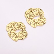 Aobei Pearl, 5 PCS from the Sale, 18k Gold Plated Round Circle Pendant,Geometric Charm,Flat Round Charms,Lotus Leaf Shape,Earrings Finding,Jewelry Findings, DIY Jewelry Material, ETS-K1289