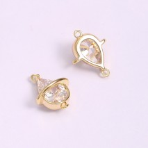 Aobei Pearl, 3 PCS from the Sale, 18K Gold Plated Fish-Shaped Pendant Made of Zircon Inlaid for Jewelry Making, Jewelry Findings, DIY Jewelry Material, ETS-K1293