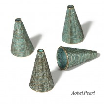 Aobei Pearl, 22 Pieces from the Sale, Handmade Jewelry Accessory made of Zinc-alloy Plated with Green Bronze, Jewelry Findings, ETS-K242