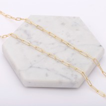 Aobei Pearl, 1 Meter from the Sale, 18K Gold Oval Chain Link for Jewelry Making, Jewelry Findings, DIY Jewelry Material, ETS-K243