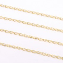 Aobei Pearl, 1 Meter from the Sale, 18K Gold Cable Chain Link for Jewelry Making, Jewelry Findings, DIY Jewelry Material, ETS-K264
