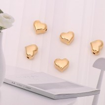 Aobei Pearl, 10 PCS from the Sale, 18K Gold Plated 3D Love Heart Charm for Jewelry Making, Jewelry Findings, DIY Jewelry Material, ETS-K292