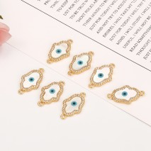 Aobei Pearl, 1 PCS from the Sale, 18K Gold Plated CZ Acrylic Hamsa Charm for Jewelry Making, Jewelry Findings, DIY Jewelry Material, Evil Eye Charm, ETS-K295