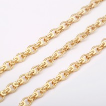 Aobei Pearl, 1 Meter from the Sale, 18K Gold Plated Chain for Jewelry Making, Jewelry Findings, DIY Jewelry Material, ETS-K326
